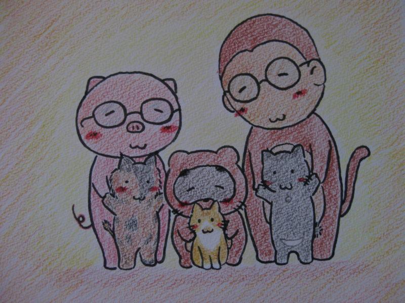 お兄ちゃんとネコたち