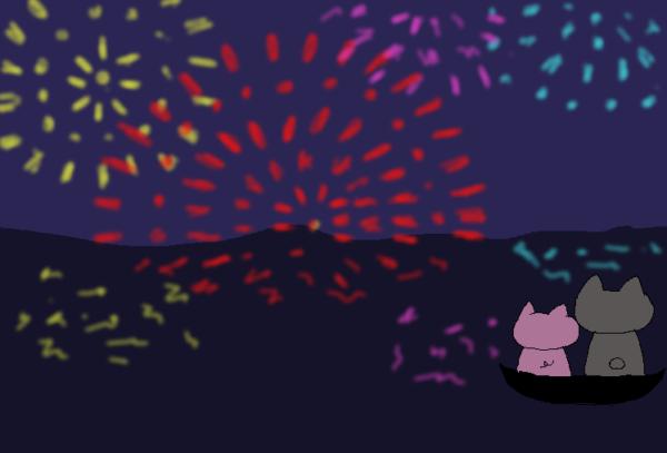 花火大会の理想のイラスト