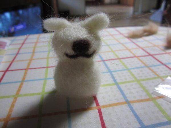ぷっこ、羊毛フェルト初挑戦