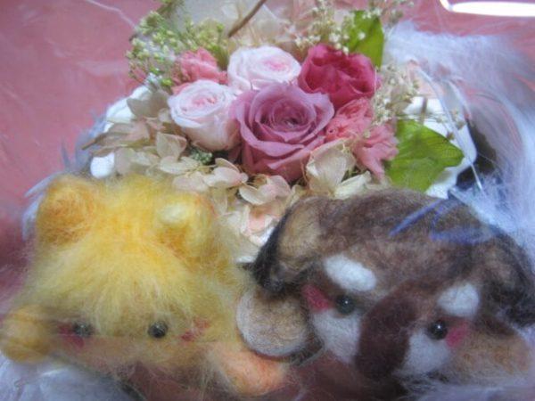 初心者が羊毛フェルトで親友の結婚のプレゼントを作ります。今は亡き愛犬を再現