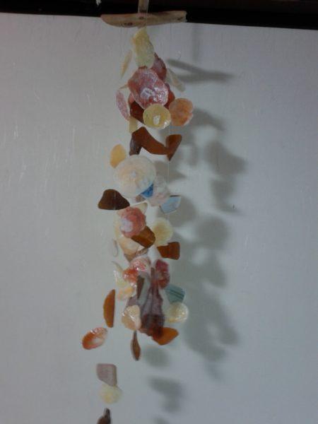 貝殻のウインドチャイムを作ってみました
