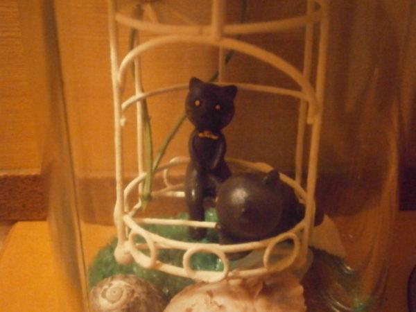 夏休みの工作(・∀・)謎の猫オブジェを作ってみる