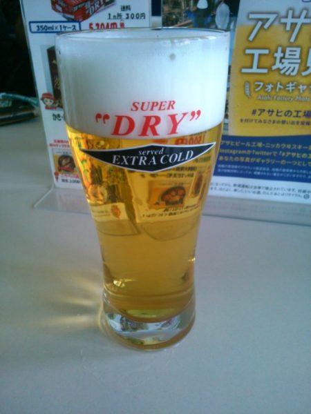 アサヒとサントリーのビール工場見学に行きました。