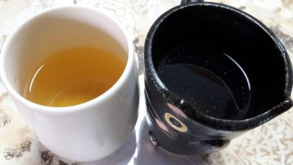 実家でも野草茶作り【アシタバ・ツユクサ&柿+ドクダミ】
