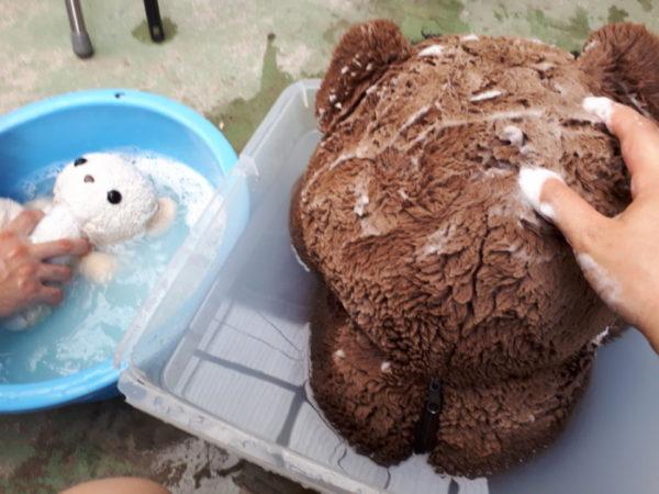 真夏にしかできないこと。【ぬいぐるみのお洗濯】