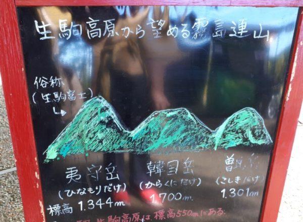 霧島連山の生駒富士
