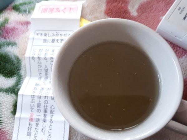金箔入りおみくじ付きこぶ茶