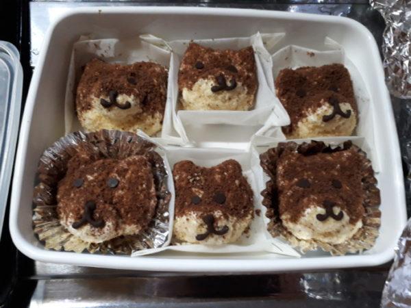 バレンタインデーに黒柴犬のチーズケーキ作りました