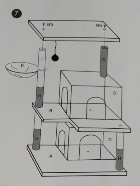 苦節10年。我が家についに段ボールでないキャットタワーが!【AMT0053の組み立て】