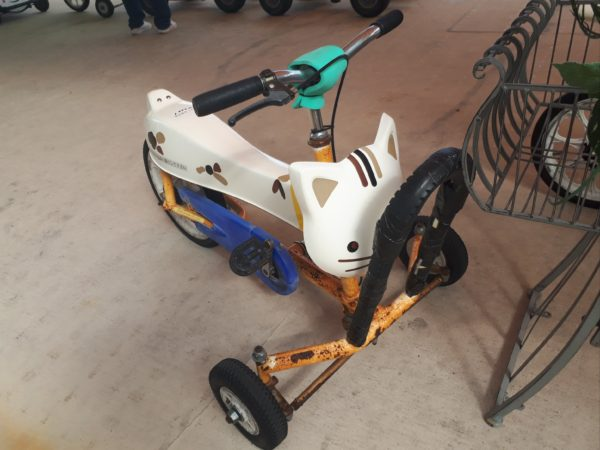 ひめじ手柄山遊園のチャリティーに申込みしてみた、猫の自転車