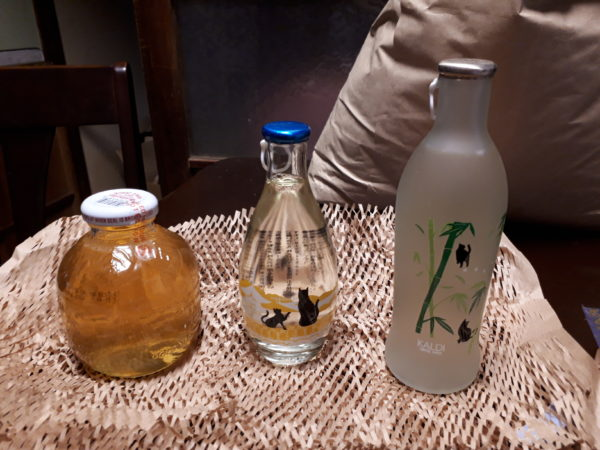 KALDIの可愛い空き瓶をソーラーランプ(ランタン)に。(タコのランプも補修)