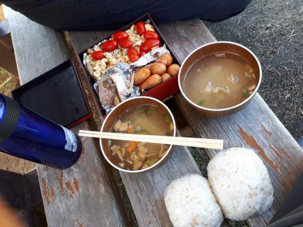 秋晴れの下でピクニック(* ̄▽ ̄)ノ