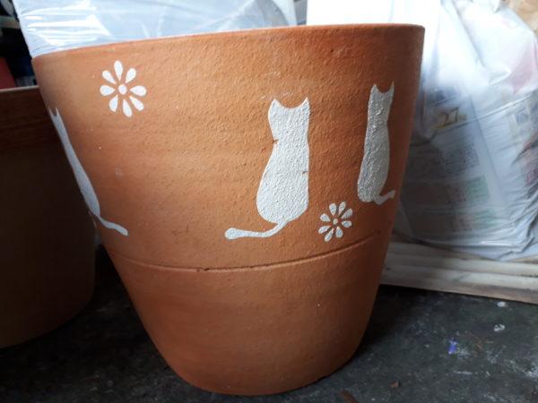 猫の植木鉢