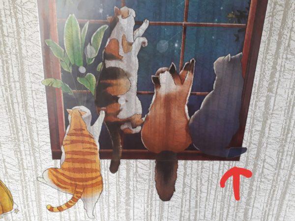 楽天市場で買った、うちの猫たちそっくりなステッカー