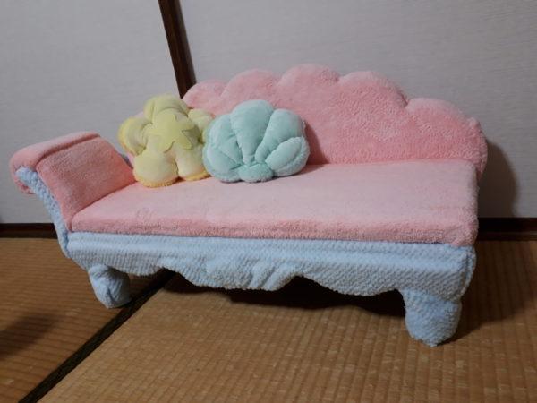 あつ森のマーメイドなソファを、猫用サイズで再現DIY(ФωФ)【あつまれどうぶつの森】その3
