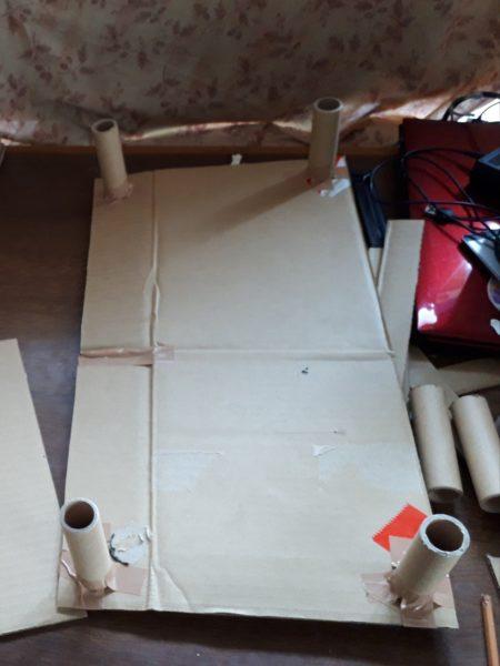 あつ森のマーメイドなソファを、猫用サイズで再現DIY(ФωФ)【あつまれどうぶつの森】その2