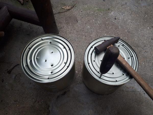 空き缶を、ネコとクマとブタの植木鉢にリメイク(ФωФ)【業スーのトマト缶】