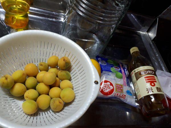 いただきものの梅をジュースに、スモモをジャムにしてみました。