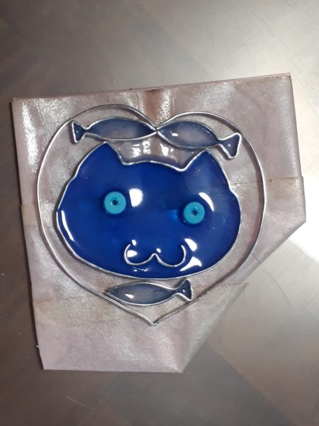 レジンでステンドグラス風サンキャッチャーを作ってみた。*猫モチーフ*
