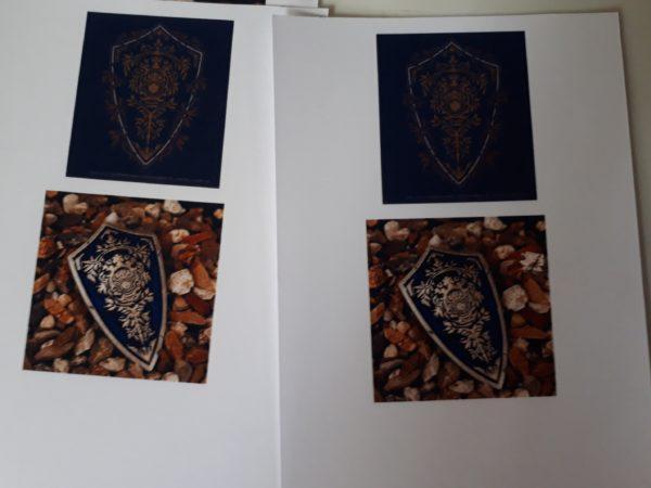 ダークソウルの紋章の盾のピンバッジをレジンで自作、再現DIY